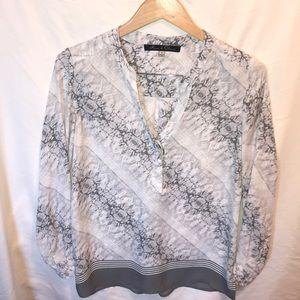 Rose & Olive sheer blouse